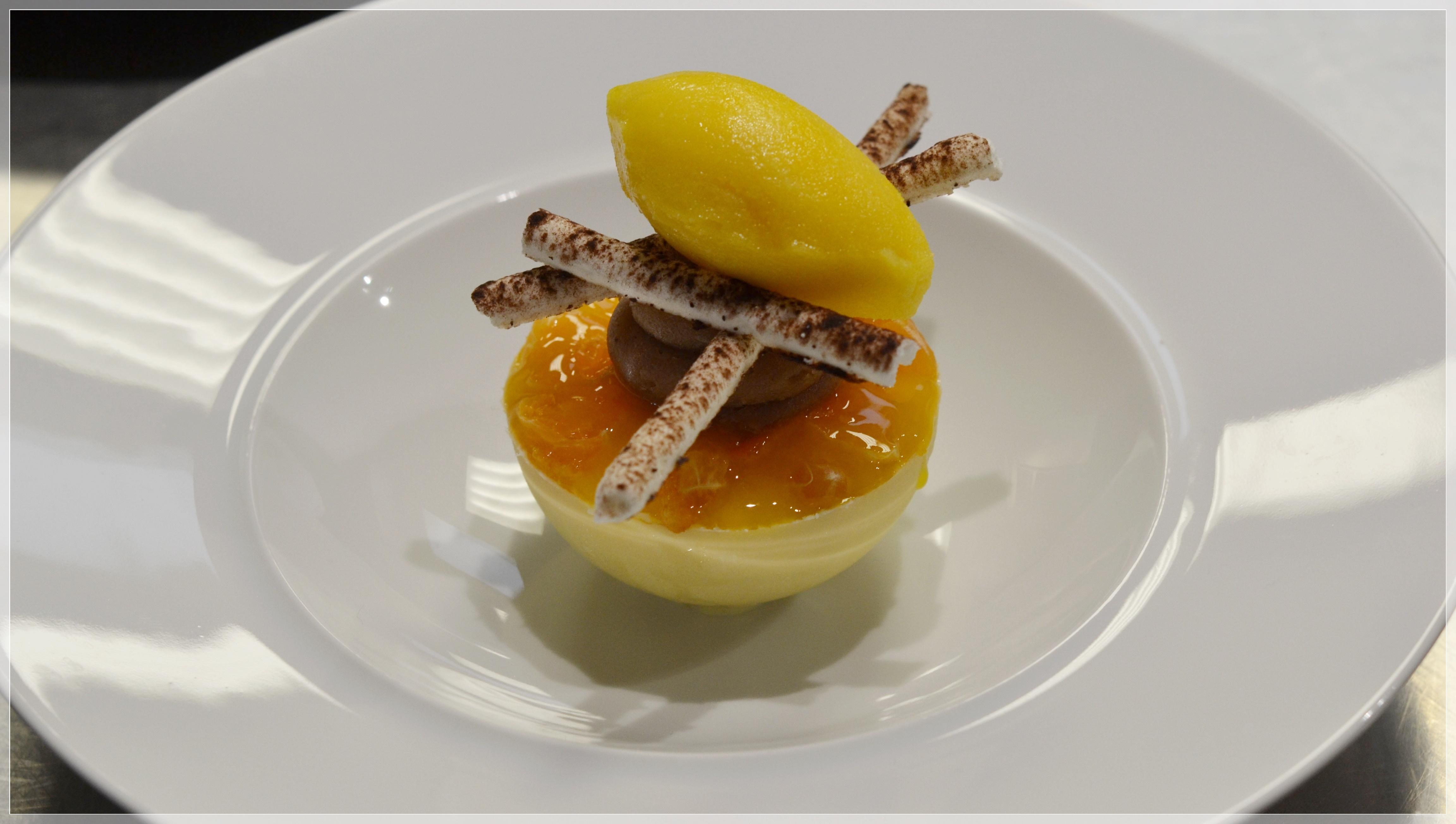 Dessert clémentine restaurant